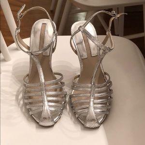 Zara Silver Cage Heels